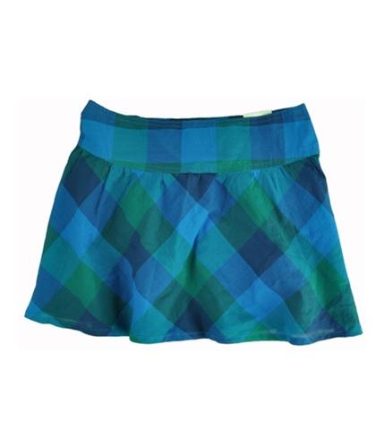 Aeropostale Womens Plaid Mini Skirt seablue XS