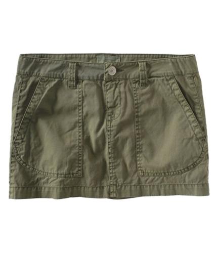 Aeropostale Womens Chino Khaki Mini Skirt greens 00
