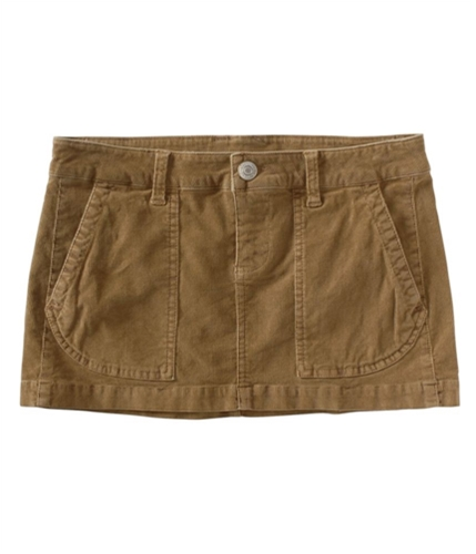 Aeropostale Womens Solid Corduroy Skirt suntan 00