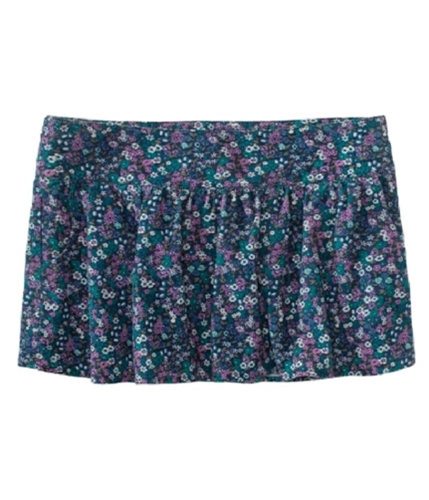 Aeropostale Womens Floral Corduroy Mini Skirt teal XS