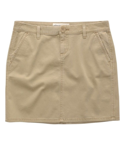 Aeropostale Womens Khaki Uniform Pencil Skirt tan M