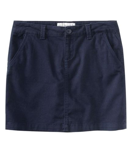 Aeropostale Womens Flat Slant Pockets Pencil Skirt navyniblue 7/8
