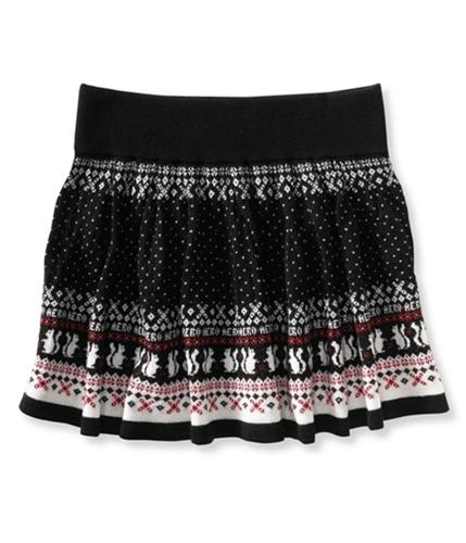 Aeropostale Womens Squirrel Mini Skirt black XS