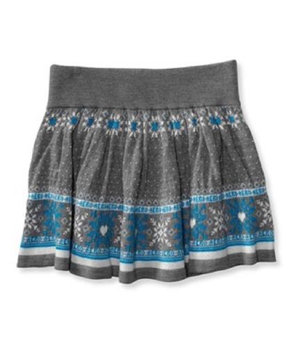 Aeropostale Womens Snowflake Pleated Skirt medgray XS