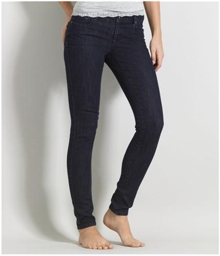 Aeropostale Womens Extra Stretch Super Skinny Fit Jeans gulf 7/8x32