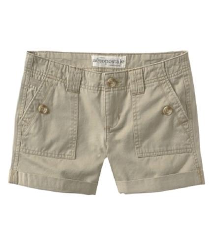 Aeropostale Womens Khaki Casual Chino Shorts burlaptan 0