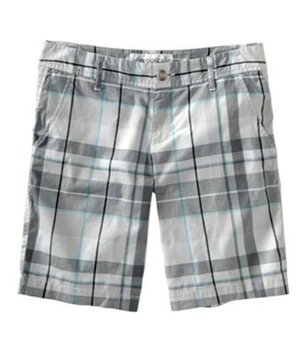 Aeropostale Womens Plaid Slant Pocket Walking Casual Mini Shorts bluff 00