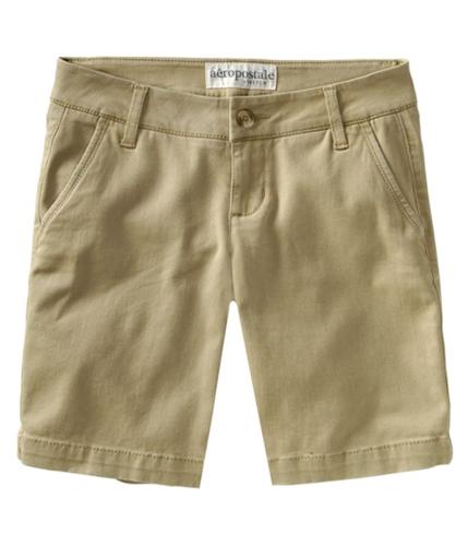 Aeropostale Womens Falt Stretch Chino Casual Mini Shorts darksttan 00