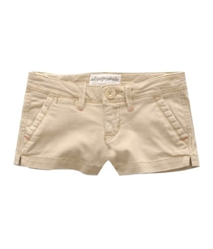 Aeropostale Womens Khaki Casual Mini Shorts sesamebrown 00