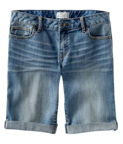 Aeropostale Womens Denim Casual Bermuda Shorts blues 00