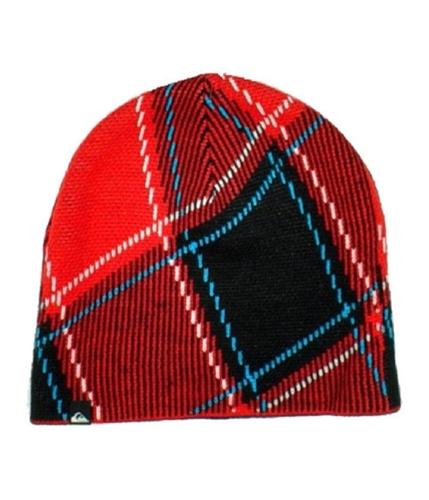 Quiksilver Mens Plaid Beanie Hat black One Size
