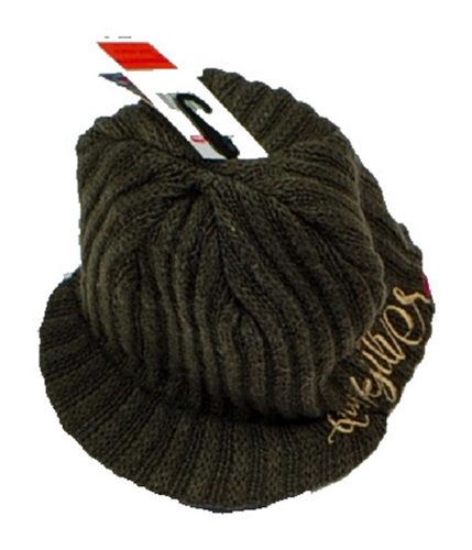 Quiksilver Mens Front Bill Beanie Hat brown One Size