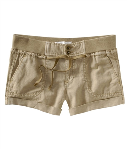 Aeropostale Womens Army Casual Chino Shorts oatbratan 00