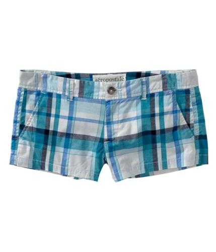 Aeropostale Womens Plaid Khaki Casual Chino Shorts bleachwhite 00