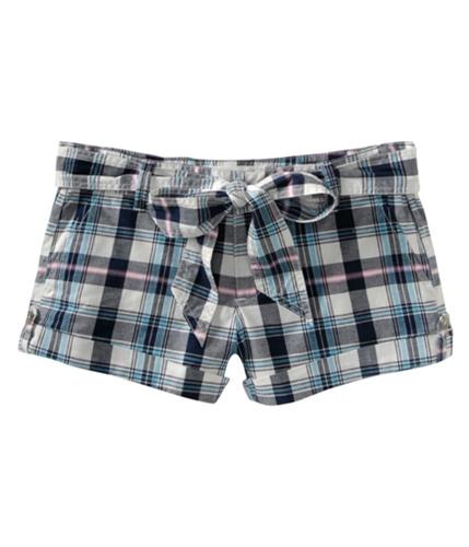 Aeropostale Womens Light Weight Plaid Casual Chino Shorts whites 00