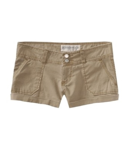 Aeropostale Womens Khaki Casual Chino Shorts beiges 00