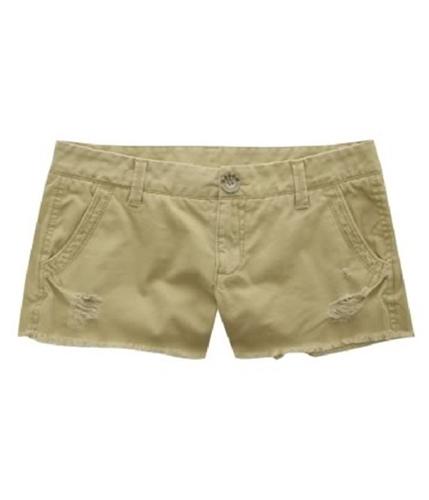 Aeropostale Womens Shortfrayed Casual Mini Shorts darksttan 00