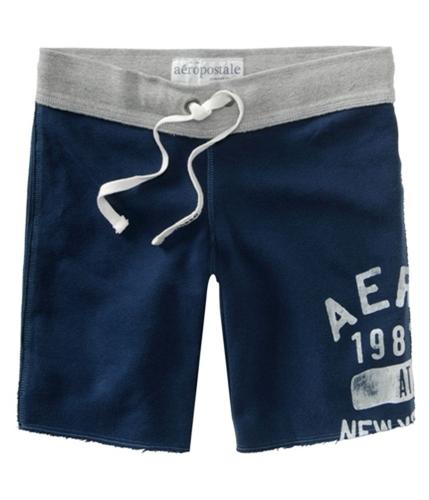 Aeropostale Womens Aero Ny Fleece Bermuda Athletic Sweat Shorts navyblue XS