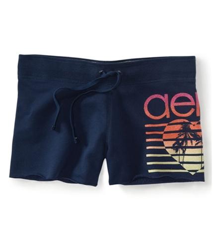 Aeropostale Womens Glitter Heart Casual Bermuda Shorts 413 XS