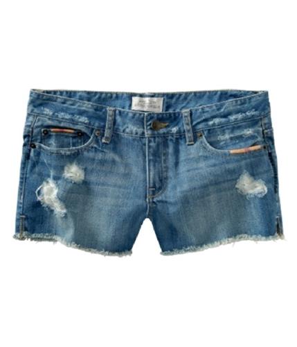 Aeropostale Womens Cut Off Distressed Casual Denim Shorts blues 00