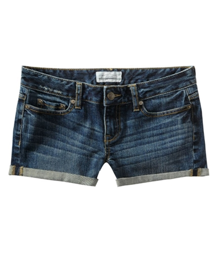 Aeropostale Womens 5 Pocket Casual Denim Shorts blues 0