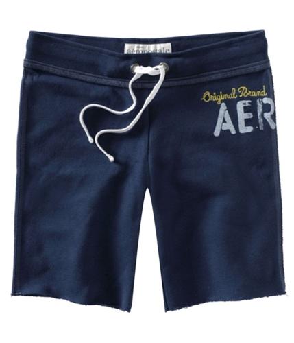 Aeropostale Womens Fleece Original Aero Casual Bermuda Shorts navyni XS