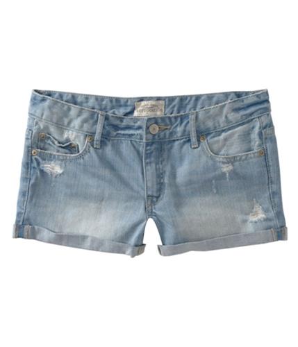 Aeropostale Womens Blues Distress Casual Denim Shorts blues 3/4