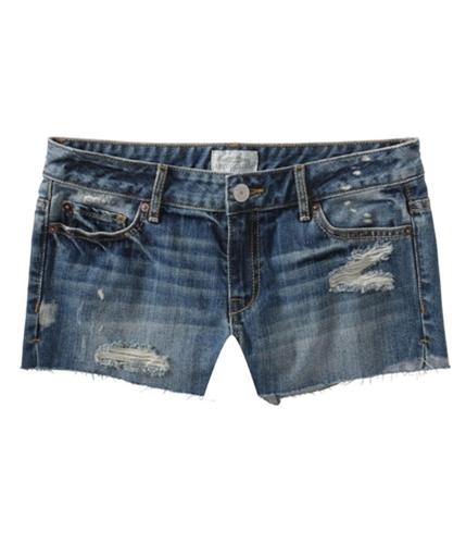 Aeropostale Womens Cut Off Distress Casual Denim Shorts blues 1/2