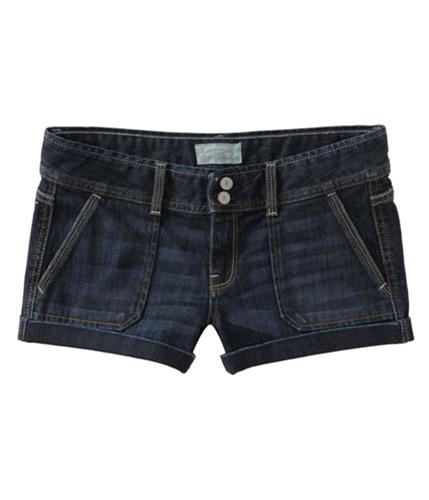 Aeropostale Womens Flap Back Pockets Casual Denim Shorts blues 00