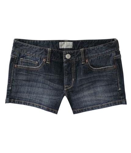 Aeropostale Womens Dark Wash Casual Denim Shorts blues 00