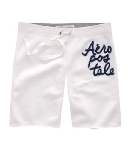 Aeropostale Womens Stacked Aero Athletic Sweat Shorts bleachwhite XS
