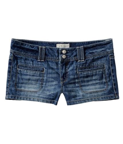 Aeropostale Womens Solid Casual Denim Shorts blues 00