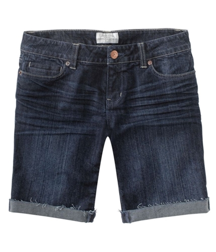Aeropostale Womens Dark Wash Denim Casual Bermuda Shorts blues 00