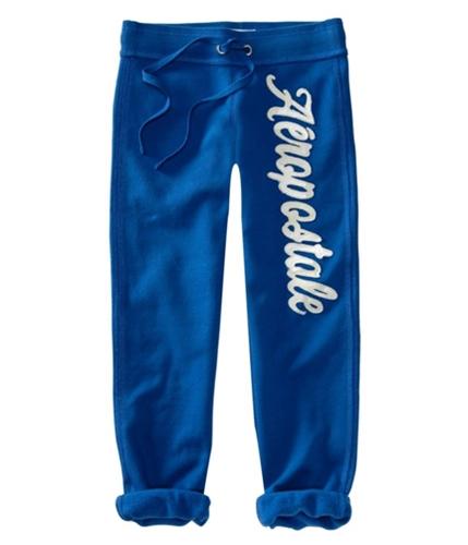 Aeropostale Womens Embellished Cuffed Casual Sweatpants mediumblue XS/24
