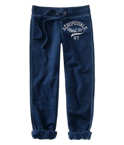 Aeropostale Womens Casual Capri Athletic Sweatpants navyniblue XS/32