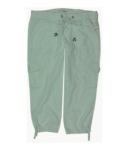 Aeropostale Womens Cropped Cargo Casual Trouser Pants bleachwhite 11/12x24