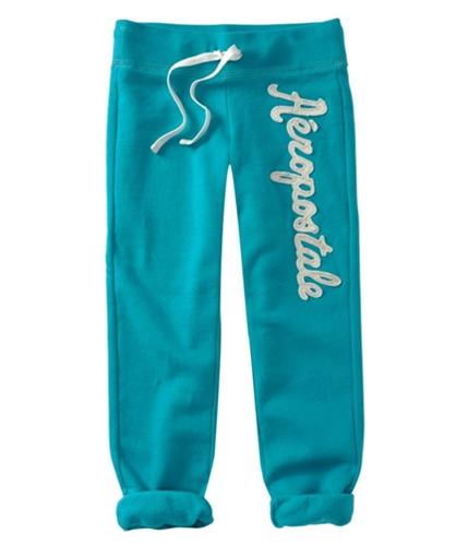 Aeropostale Womens Embroidered Casual Sweatpants cleartealaqua XS/32