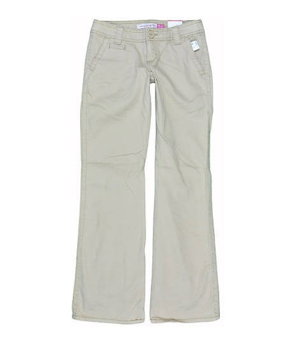 Aeropostale Womens Uniform Khaki Casual Chino Pants beigedarkst 1/2x32