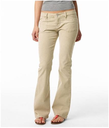 Aeropostale Womens Flare Leg Slim Fit Casual Corduroy Pants tandar 7/8x32