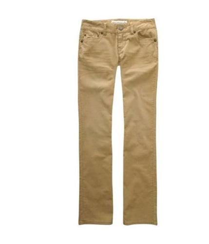Aeropostale Womens Solid Casual Corduroy Pants beigedarkst 0x32