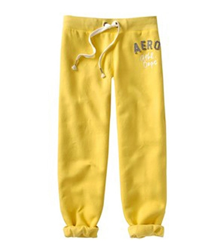 Aeropostale Womens Cropped Casual Trouser Pants yellow M/24