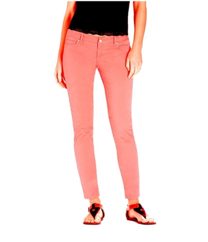 Aeropostale Womens Ashley Solid Ultra Neon Woven Skinny Fit Jeans 870 0x32