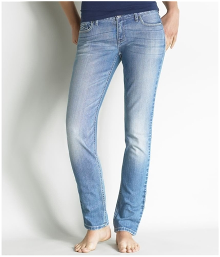 Aeropostale Womens Jane Blue Rhinestone Skinny Fit Jeans medium 13/14x32