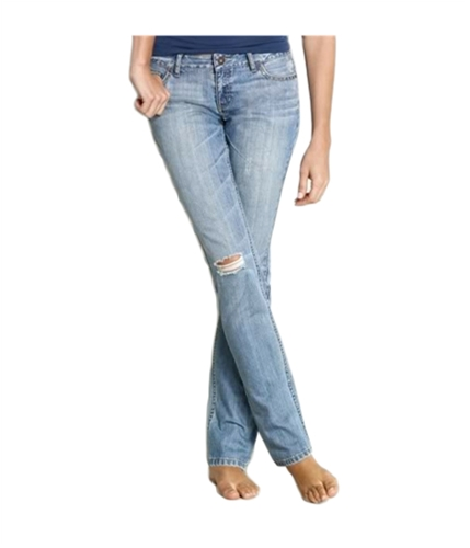 Aeropostale Womens Sequence Skinny Fit Jeans light 00x32