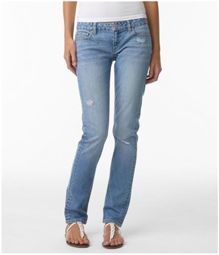 Aeropostale Womens Low Rise Signature Skinny Fit Jeans ltwash 1/2x32