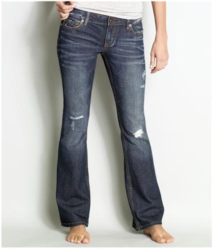 Aeropostale Womens Casual Flared Jeans dark 00x30
