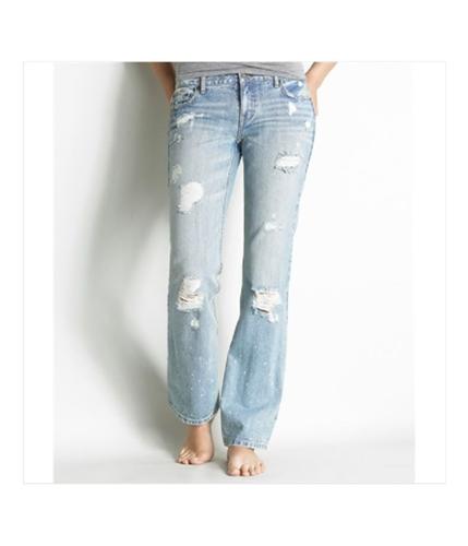 Aeropostale Womens Low Rise Slim Fit Boot Cut Jeans light 1/2x32