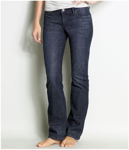 Aeropostale Womens Jewels Low Slim Boot Cut Jeans dark 9/10x32