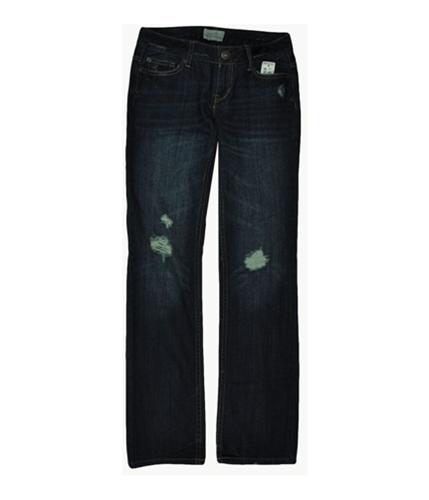 Aeropostale Womens Solid Boot Cut Jeans medium 00x32
