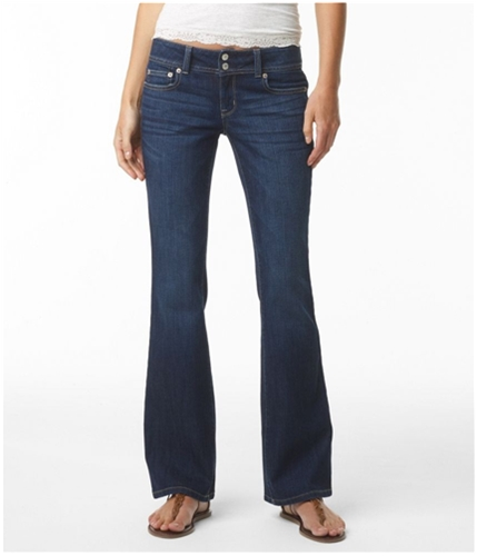 Aeropostale Womens Super Low Rise Fit Flared Jeans dean 0x32